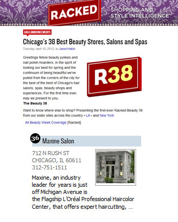 Maxine Salon featured in Racked.com April 10, 2012