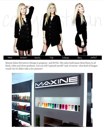 2657ae3532 Carly Cristman Blog May 2012 - Maxine Salon - Top Chicago salon just ...