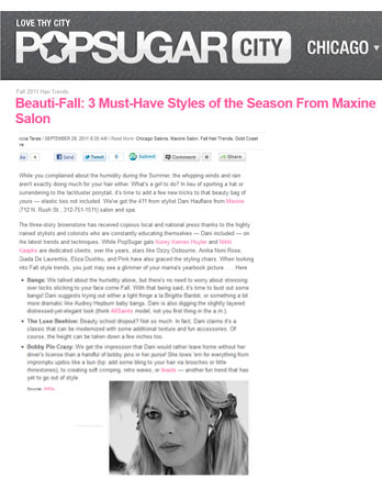 Maxine Salon Pop Sugar Chicago