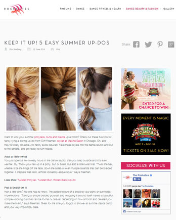 Maxine Salon featured in Glamour Magazine May 2014