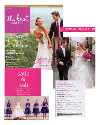 Becca Panos featured in The Knot Magazine Spring/Summer 2012