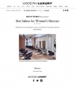 Modern Luxury.com Best Salons for Women's Haircuts