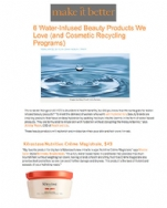 Make it Better.net Water-Infused Beauty Products