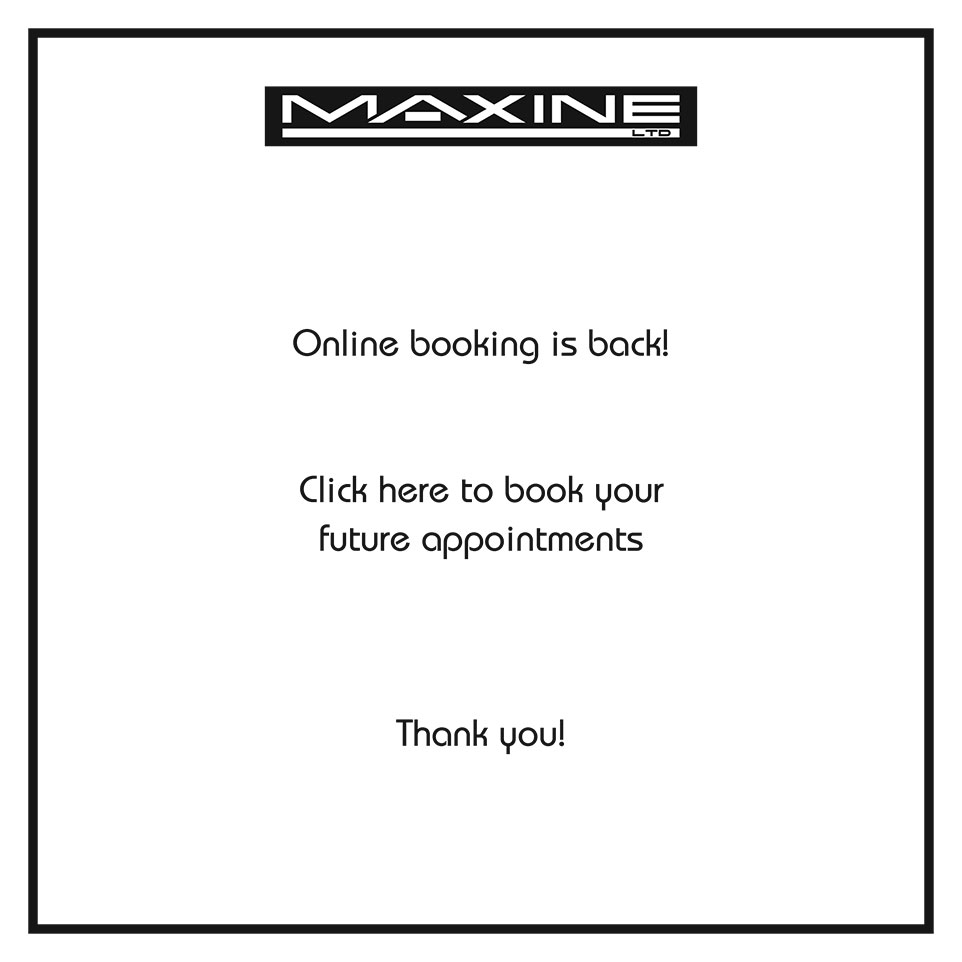 Online Booking is Back