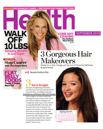 Maxine Salon in Chicago featured in Health Magazine September 2010