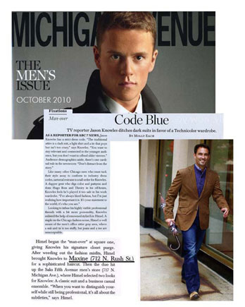 Maxine Salon in Chicago featured in Michigan Avenue Magazine October 2010