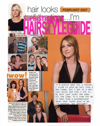 Maxine Salon featured in Sophisticates Hairstyle Guide February 2007