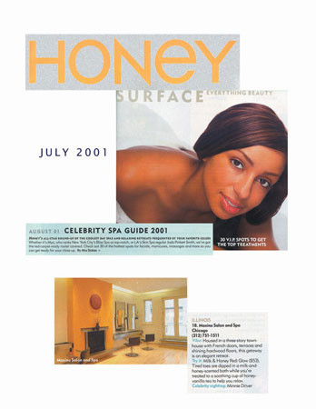 Maxine Salon in Chicago featured in Honey Magazine July 2001