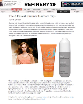 Maxine Salon's Creative Director Amy Abramite featured in Refinery29 May 21, 2011
