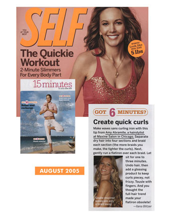 Maxine Salon in Chicago featured in Self Magazine August 2005